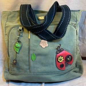 Chala almost NEW cotton/canvas tote/shoulder bag